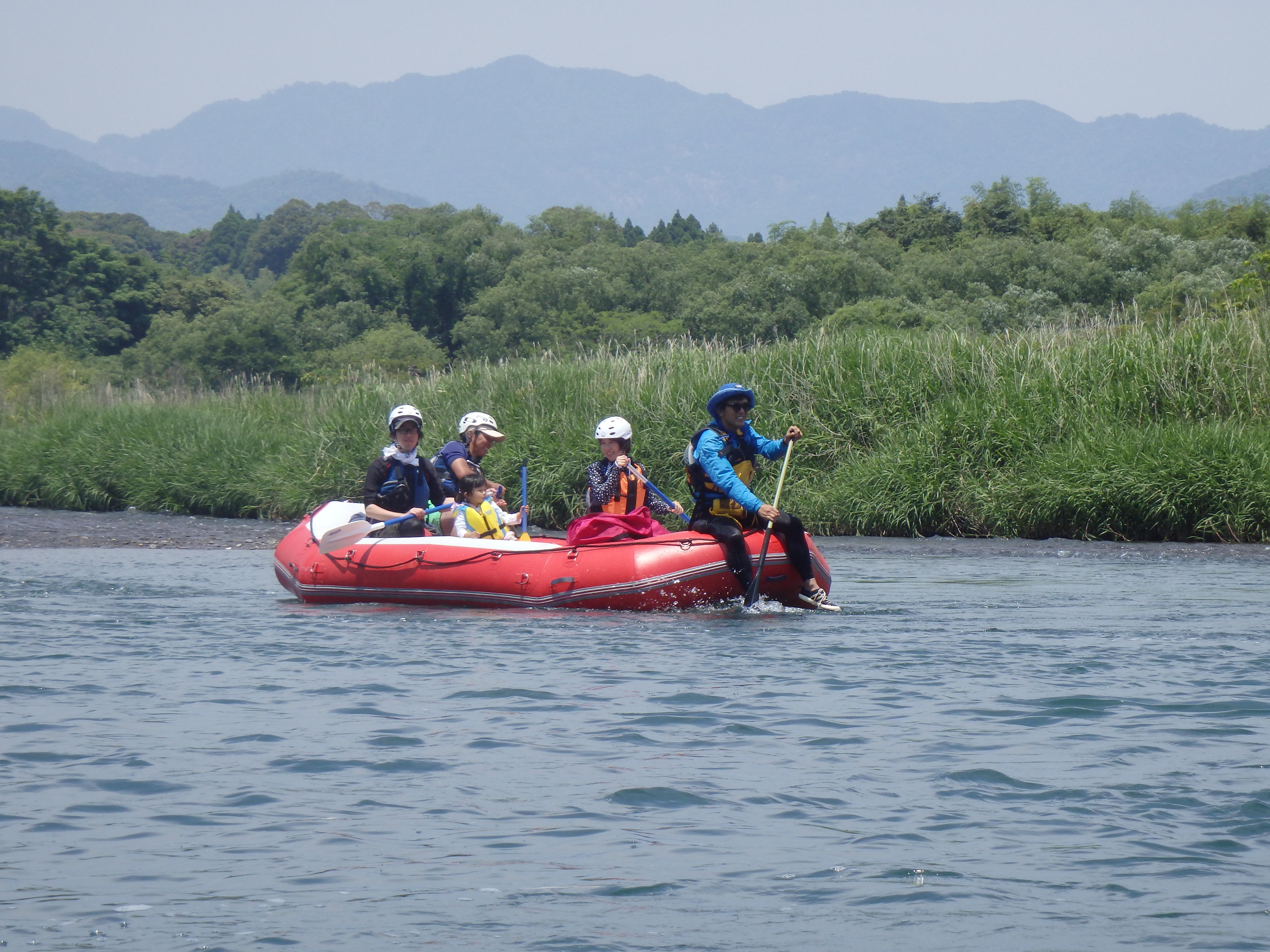 五ヶ瀬川ラフトボートも登場